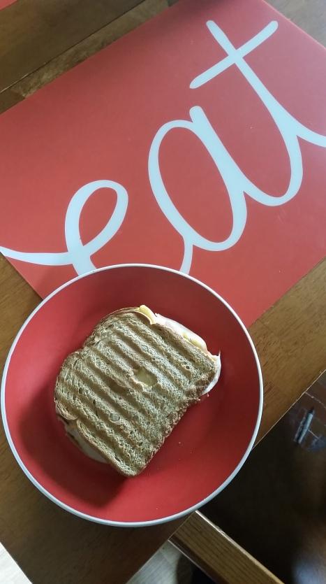 Sandwich using a George Foreman!