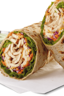 healthy fast food, chicken wrap