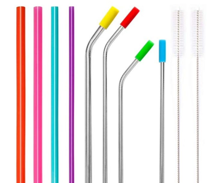 metal and silicone straws, ways to reduce pollution